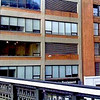 Panoramic view north along the High Line and east along 14th Street.