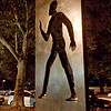 """Invisible Man"" statue<br /> iPhone photo<br /> Tribute to author Ralph Ellison at foot of West 150th Street on Riverside Drive."