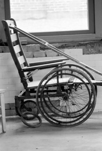 Wheelchair, Ellis Island (August 1984), just prior to the closure for the renovation