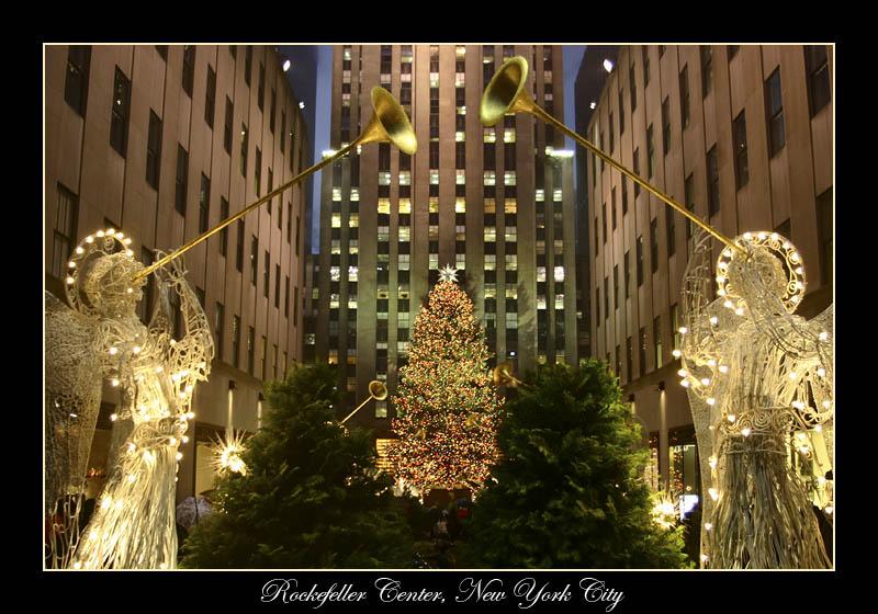Looking down toward the tree.<br> Rockefeller Center.