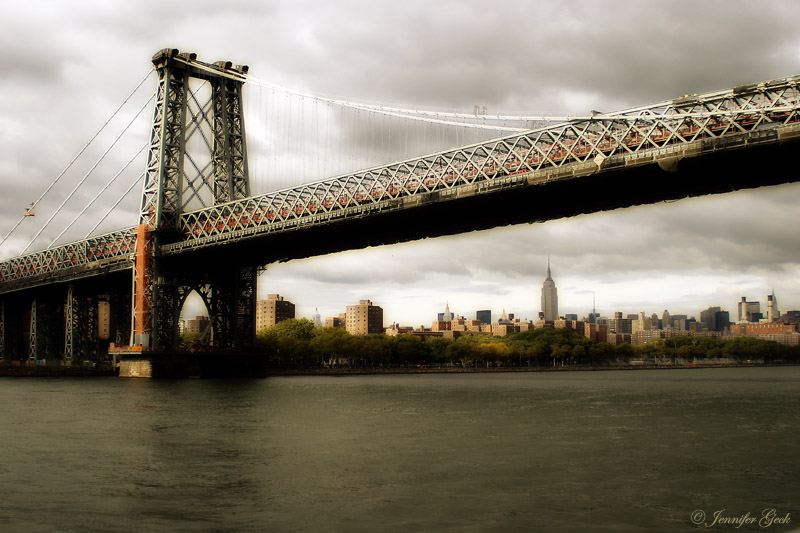 Williamsburg Bridge, NYC<br> Taken from Circle Line Harbor Tour
