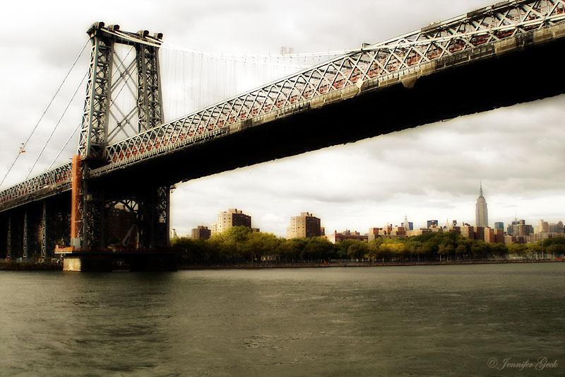 Williamsburg Bridge, NYC<br> Taken from Circle Line Harbor Tour