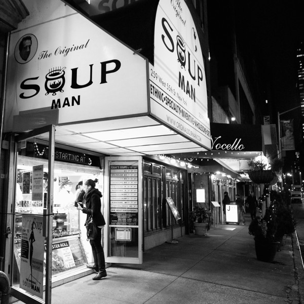 "The Soup Man is the ""Soup Nazi"" on the Seinfeld show"