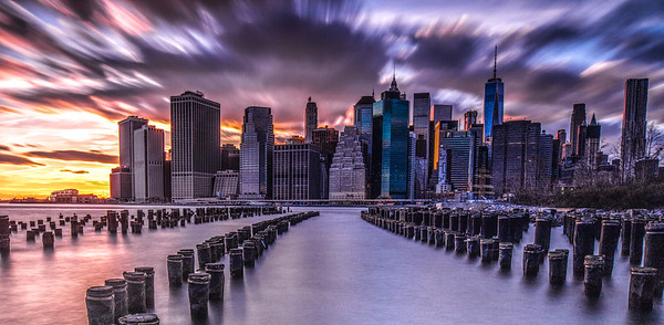 Brooklyn Bridge Park, Dusk