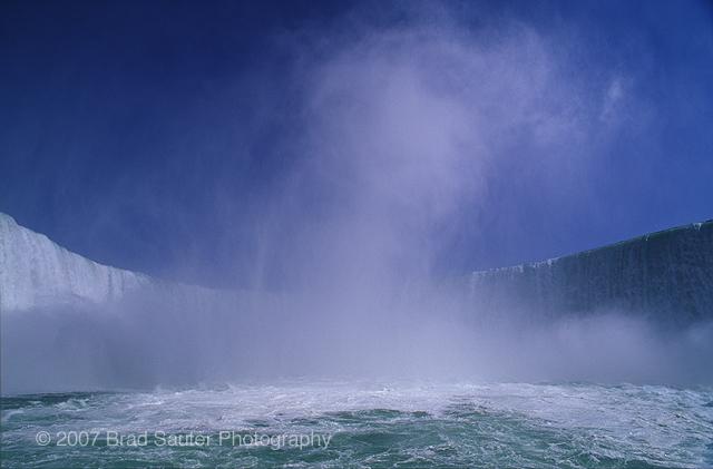 The Mist rising from the Niagara Falls, Canada