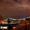 The Brooklyn Bridge taken from the Brooklyn promenade.