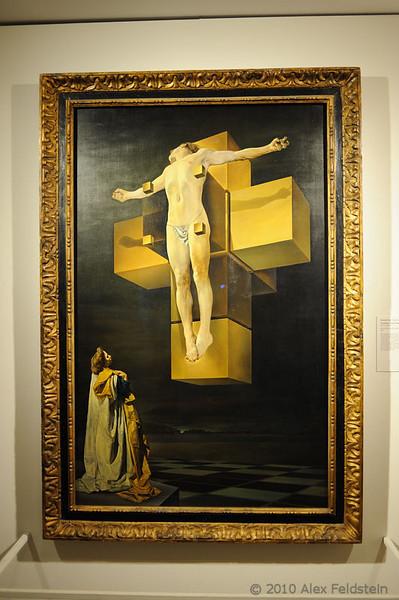 Met: Crucifixion (Corpus Hypercubus) 1954<br /> Salvador Dalí (1904-1989)<br /> Oil on Canvas