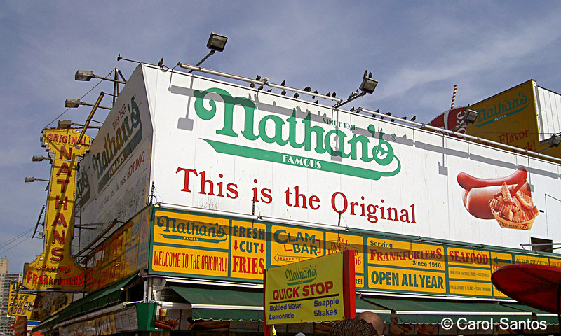 Gotta have a hot dog at Nathan's.