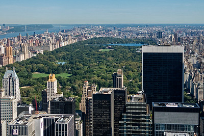 Central Park viewed from Rockefeller Center