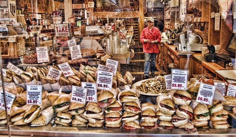Sandwich shop window - Take a Number