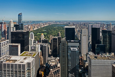 Central Park viewed from Top of the Rock Observation Deck