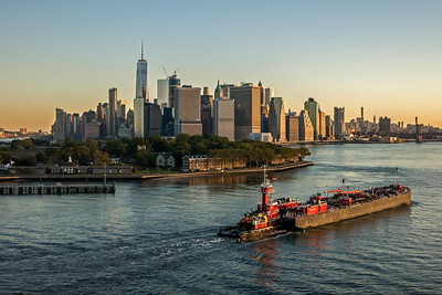 Governors Island in Upper New York Bay off tip of Manhattan Island