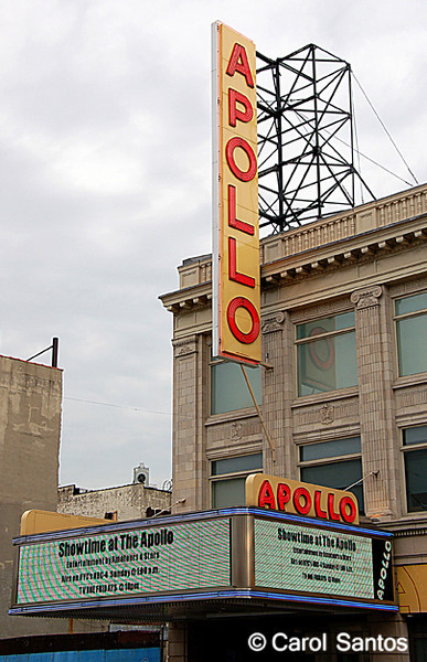 The historical Apollo Theater in Harlem, New York.