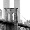 Brooklyn Bridge and World Trade Center Towers. July, 1980.