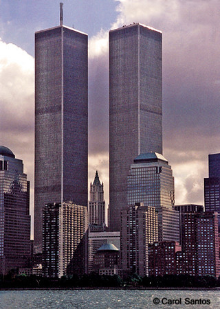 This was taken five days before the towers fell on September 6, 2001. Horrible, just horrible.