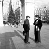 Friends talking in Washington Square Park