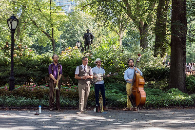 Buskers in Central Park