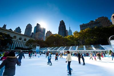 Bryant Park skating