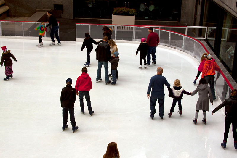 Ice Skating in Rockefeller Plaza