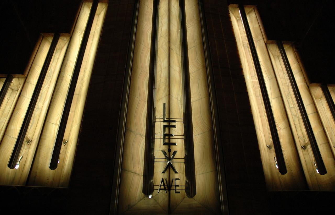 Inside the Chrysler Building.