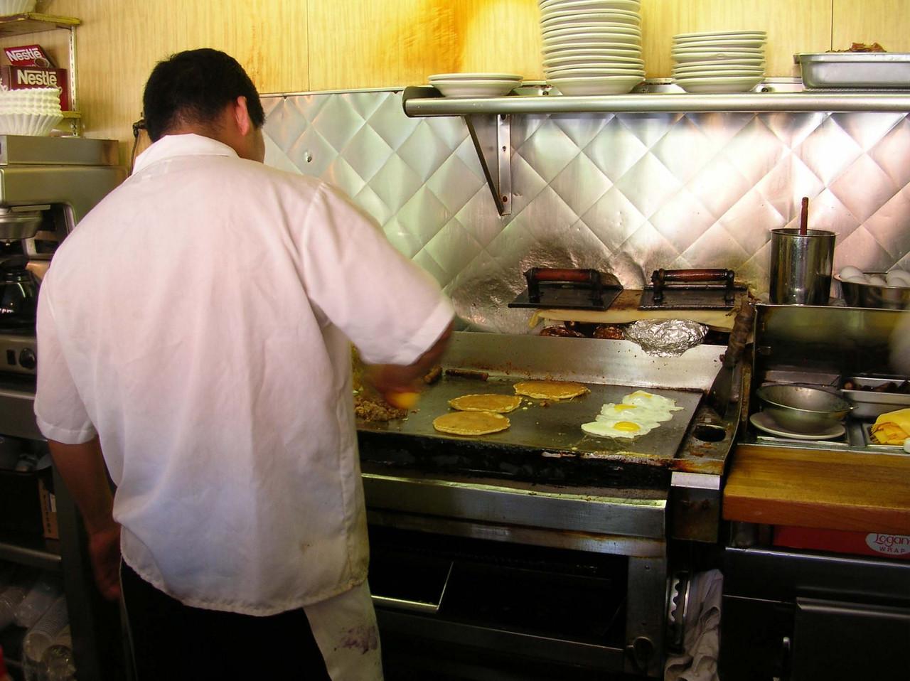 grill cook - Manhattan, 2005