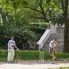 Cricket in a park in Brooklyn.
