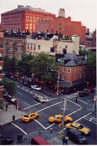 corner of Charles and Hudson, taken from the roof of the building I lived in