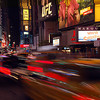 Fast pace of Times Square