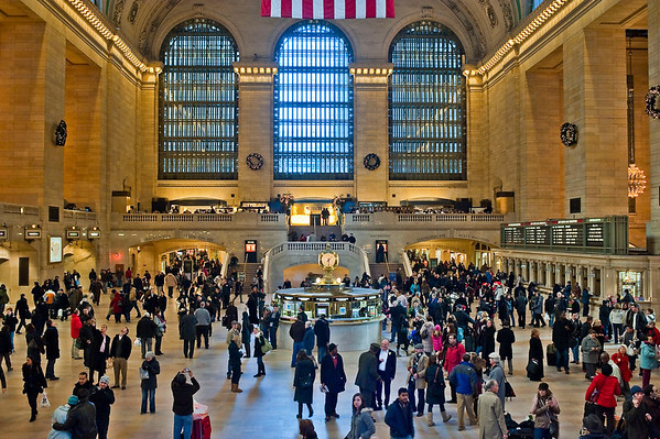 Grand Central.  Waiting for my train to Poughkeepsie.