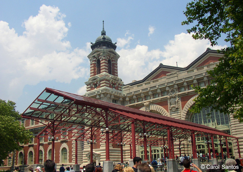 Ellis Island. Is this in New York or New Jersey?