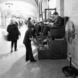 Shoe Shine in Grand Central Station