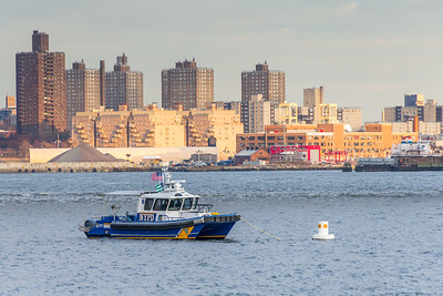 NYPD Patrol Boat in East River