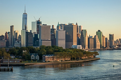 Governors Island and lower tip of Manhattan Island