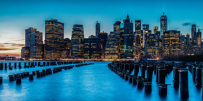 Brooklyn Bridge Park, Blue Hour