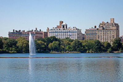 Reservoir in Central Park looking to East Side