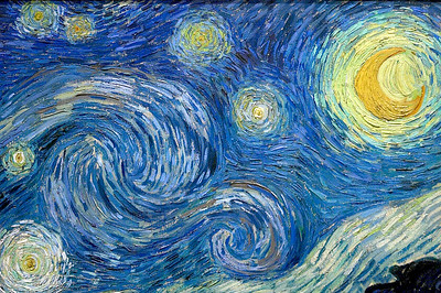 "Van Gogh's ""Starry, Starry Night"" detail"