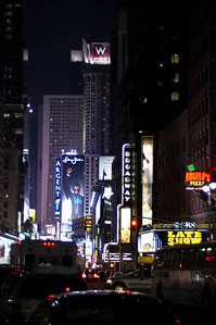 Down Broadway towards Times Square