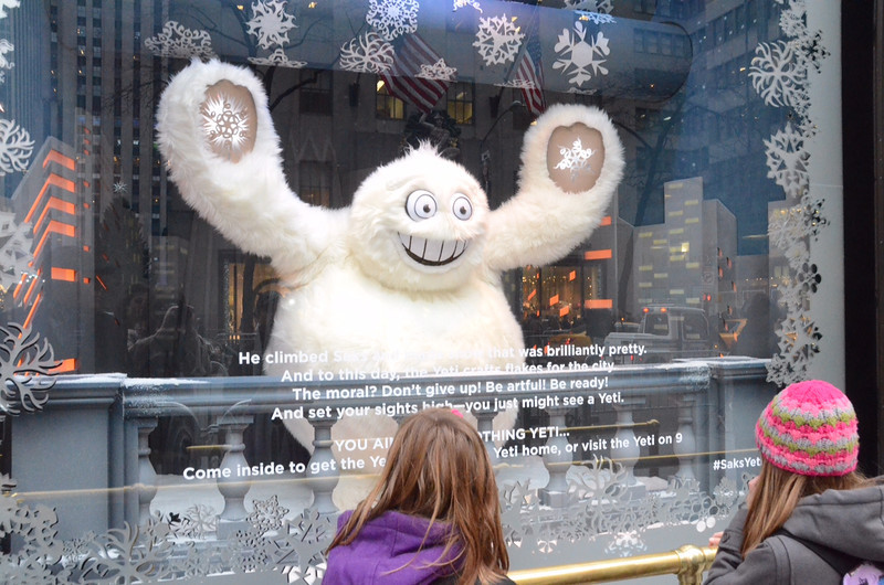 Sacks Fifth Avenue holiday window