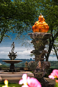 Rockefeller Estate -  -Statues in Garden  - NY 2012 Copyright © 2012 - Photo by Barry Jucha