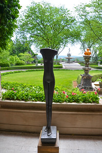 Rockefeller Estate -  - Statues in Garden  - NY 2012   Copyright © 2012 - Photo by Barry Jucha
