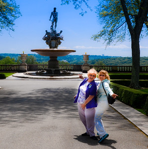 Rockefeller Estate -  - Statues in Garden Barbara & Riki  - NY 2012  Copyright © 2012 - Photo by Barry Jucha