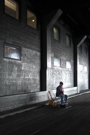 Busker on the Highline