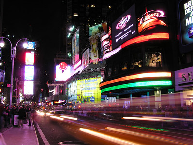 Night view, Manhattan, Times Square