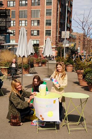 Gansevoort area public plazas (includes lemonade stand)