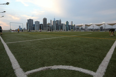 Manhattan on a soccer field