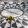 John Lennon memorial in Central Park.