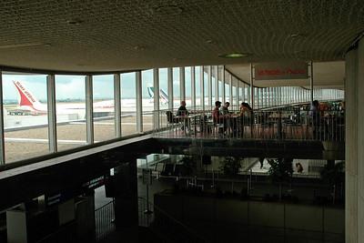 CDG (Charles De Gaulle) International Airport, Paris, France enroute to JFK, New York, USA. Aug 2004