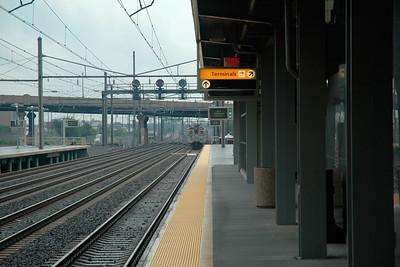 Newark, NJ, USA train station near the Newark International Airport. USA Aug 2004