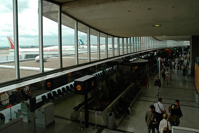 CDG (Charles De Gaulle) International Airport, Paris, France enroute to JFK, New York, USA. Aug 2004
