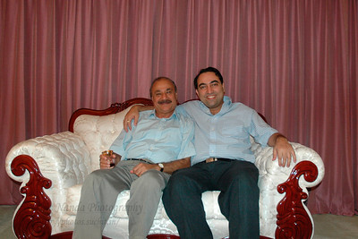 Suchit with Satish mausaji at his home in Hamilton Sq, NJ, USA.  Aug 2004